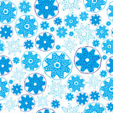 Snowflakes seamless pattern. Royalty Free Stock Photos