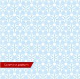 Snowflakes Seamless Pattern, Vector Royalty Free Stock Image
