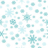 Snowflakes Seamless Pattern Royalty Free Stock Photography