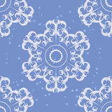 Snowflakes seamless pattern vector illustration Royalty Free Stock Images