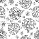 Snowflakes seamless pattern Royalty Free Stock Images
