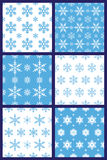 Snowflakes seamless pattern vector Stock Image