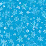 Snowflakes seamless pattern Stock Images