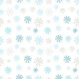 Snowflakes seamless pattern. Winter background. Christmas and New Year design wrapping paper design. Stock Image
