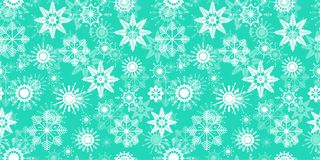 Snowflakes seamless pattern. Winter background. Light blue and white. Isolated flat icons. Vector illustration of. Transparent snowflakes. Can use for winter stock illustration