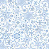Snowflakes seamless pattern.Winter crystal stars royalty free stock image