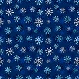 Snowflakes seamless pattern. Winter dark background. Christmas and New Year design wrapping paper design. Snowflakes seamless pattern. Winter dark background Royalty Free Stock Images
