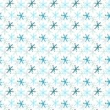 Snowflakes seamless pattern. Winter holiday background. Christmas and New Year design wrapping paper design. Royalty Free Stock Photo