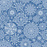 Snowflakes seamless pattern.Winter lace Royalty Free Stock Photos
