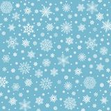 Snowflakes seamless pattern. Winter snow flake stars, falling flakes snows and snowed snowfall vector background. Snowflakes seamless pattern. Winter snow flake stock illustration