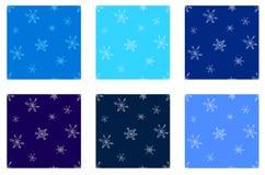 Snowflakes seamless set Stock Images