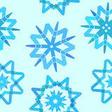 Snowflakes. Seamless texture with blue snowflakes vector illustration