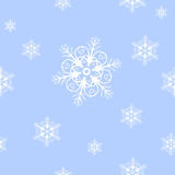 Snowflakes seamless texture Royalty Free Stock Photo