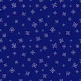Snowflakes seamless vector pattern.Blue snow christmas background illustration Royalty Free Stock Photography