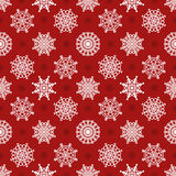 Snowflakes seamless vector pattern Stock Photography