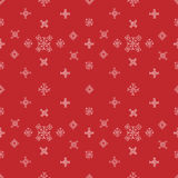 Snowflakes seamless vector pattern. Red snow christmas background for wrapper Royalty Free Stock Images