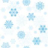Snowflakes seamless wallpaper. Seamless wallpaper, snowflakes pattern, illustration Stock Images