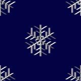 Snowflakes, seamless Royalty Free Stock Photos