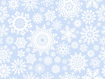 Snowflakes seamlessly pattern. Royalty Free Stock Images