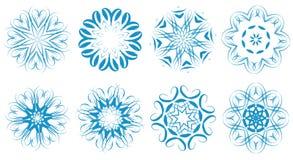 Snowflakes set Stock Photography