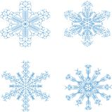 Snowflakes_set ilustração stock