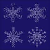 Snowflakes_set stock illustratie