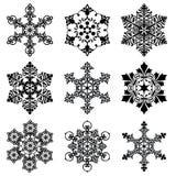 Snowflakes set Royalty Free Stock Photos