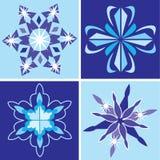 Snowflakes set. Set of blue winter snowflakes Stock Photos