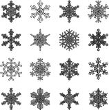 Snowflakes set Royalty Free Stock Image