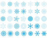 Snowflakes set Royalty Free Stock Photography