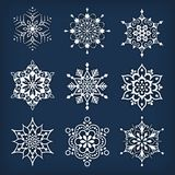 Snowflakes Set. Set of abstract snowflakes. Vector royalty free illustration