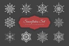 Snowflakes Set. Set of 10 abstract snowflakes for your design. Vector illustration vector illustration