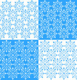 Snowflakes set background with hand-drawn vector Stock Photos
