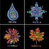 Snowflakes set. Stock Photography