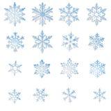 Snowflakes set Royalty Free Stock Photo
