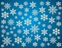 Snowflakes set for Christmas design. Royalty Free Stock Image