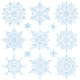Snowflakes set.Christmas,New year,Winter lace Stock Photography