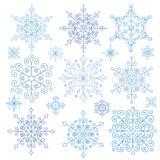 Snowflakes set.Christmas,New year,Winter lace Stock Photos