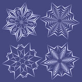 Snowflakes set for christmas winter design Stock Photos