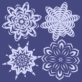 Snowflakes set for christmas winter design Royalty Free Stock Images