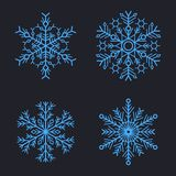 Snowflakes Set for christmas winter design. Vector Stock Photography