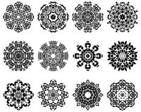 12 Snowflakes Royalty Free Stock Image