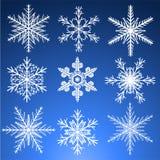 Snowflakes set Royalty Free Stock Photography
