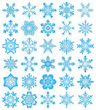 Snowflakes. Set of decorative vector snowflakes Royalty Free Stock Photo