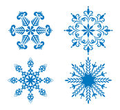 Snowflakes set for design Royalty Free Stock Images