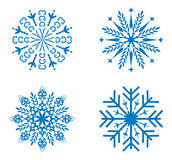 Snowflakes set for design Stock Photo