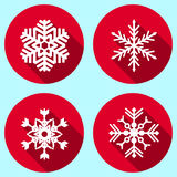 Snowflakes. Set of flat design snowflakes Stock Images