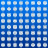 Snowflakes set generated texture Royalty Free Stock Photos