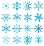 Snowflakes set. Icons set snowflakes Royalty Free Stock Photos