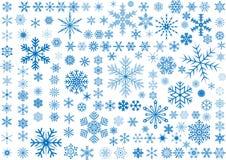 150 Snowflakes vector illustration